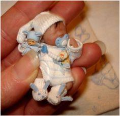 Ooak Miniaturen Baby *5,5 cm*     D.Stange | eBay