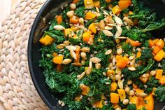 Kale & Butternut Squash Salad with Chickpeas & Wheat Berries