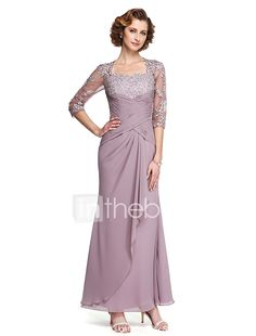 ankle length dress patterns for mother of the bride