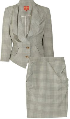 VIVIENNE WESTWOOD ENGLAND Checked Wool-blend Skirt Suit