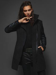 #answear.com #black #coat #woman
