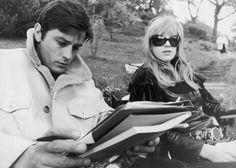 Alain Delon et Marianne Faithfull dans La motocyclette, 1967