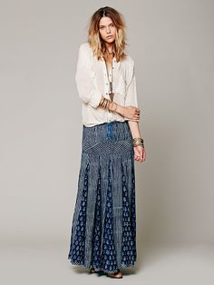 Free People Maheya Blue City Maxi at Free People Clothing Boutique