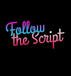 Follow the Script #script #font #lemonade