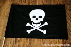 Pirate flag with freezer paper stencil