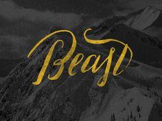 Beast by Sara Kovacs // Zebra brush pen - Hard
