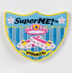 Shield shaped velcro patch works with all superme hero bags. For the superheros who are also fashionistas!
