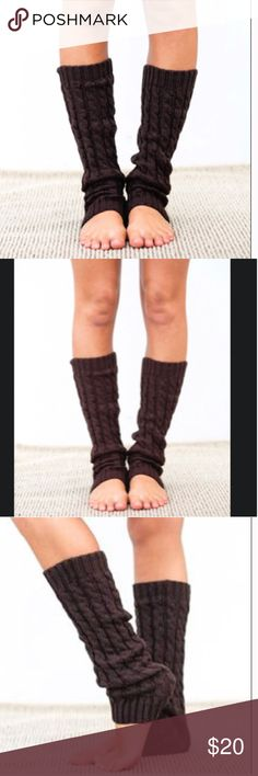 🌲 Brown Cable Knitted Leg Warmers 🌲 Brown Cable Knitted Leg Warmers  Super warm and cozy  Perfect new condition PacSun Accessories Hosiery & Socks