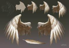 ArtStation - Wings material study, Kudo Artist (Sahil Bhardwaj) tips wings Wings material study, Kudo Artist Digital Painting Tutorials, Digital Art Tutorial, Art Tutorials, Angel Wings Drawing, Drawing Poses, Art Reference Poses, Art Studies, Art Drawings Sketches, Drawing Techniques