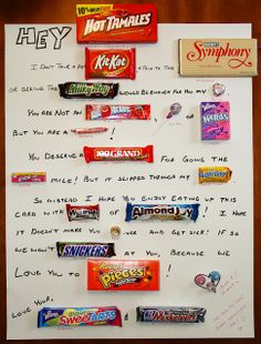 valentines day sayings with candy bars