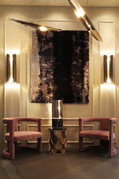 Isalone Milan | Samt Sessel | Messing Beistelltisch BRABBU Schöner Wohnen  Wohnzimmer, Wohnzimmer Ideen,