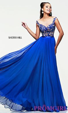 Sherri Hill Designer Evening Gown at PromGirl.com the pink and light blue one