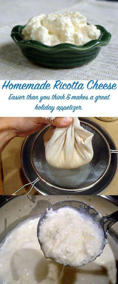 A creamy, warm, homemade batch of ricotta cheese is perfect for holiday parties. Set it out with baguette, savory jams, and watch it disappear. Get the recipe at In Jennie's Kitchen.