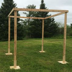 Rejoice in a traditional Jewish wedding custom with this white cedar wedding chuppah kit from Northern Boughs. It features everything you need to set up your wedding day chuppah in rustic detail. Four