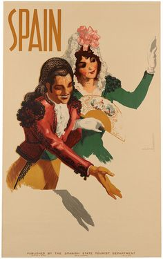 Vintagraph - Spanish dancers - Fine-Art Wall Prints and Posters, circa 1940