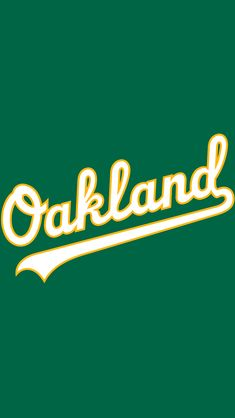Oakland Athletics Primary Logo 1968 Green A On A White