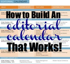 How to Build an Editorial Calendar That Works! at TheSITSGirls.com
