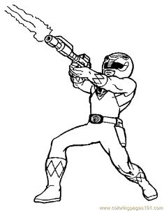 Black Power Ranger Coloring Page