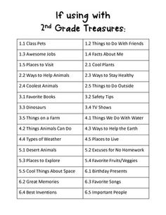Top Ten Lists for Writing Center- 2nd grade teachers, is this your adoption?!