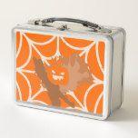 Abstract Pumpkin Metal Lunch Box #halloween #happyhalloween #halloweenparty #halloweenmakeup #halloweencostume