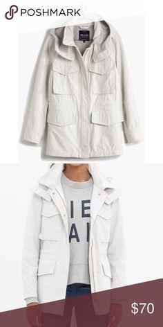 Madewell Fieldwalk Jacket White - Medium Retail $138.  New never worn.  Tag has mark to prevent store returns. Madewell Jackets & Coats