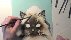 The Dramatic Watercolor Painting of a Cat by TracyLizotteStudios.com
