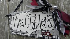 Teacher Name Sign Personalized by SunshineSignDesigns on Etsy, $40.00