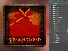 Qipao HD PSD - Freebbble