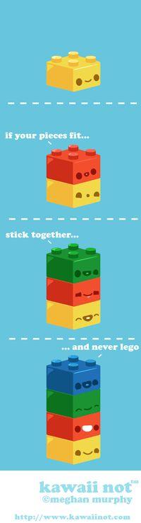 Never Lego. (Kawaii Not Comic)