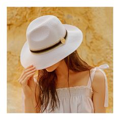 Girls just wanna have sun ☀️ Knitted trim and gold coin panama hat Gold Coins, Leather Sandals, Panama Hat, Sun, Hats, Girls, Collection, Women, Fashion