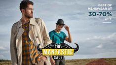 Myntra Mantastic Sale : Best Of Menswear Upto 70% Off