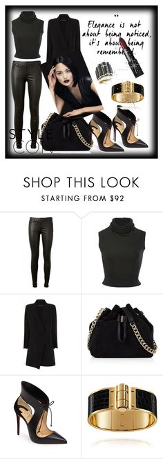 """&Style icon&"" by ozil1982 ❤ liked on Polyvore featuring AG Adriano Goldschmied, Brandon Maxwell, Karen Millen, Christian Louboutin and NARS Cosmetics"