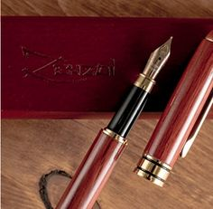 Bamboo and Burgundy Fountain Pens (Burgundy Red Wood) Best Fountain Pen, Fountain Pens, Best Pens, Red Wood, Best Gifts, Writers, Burgundy, Bamboo, Diving
