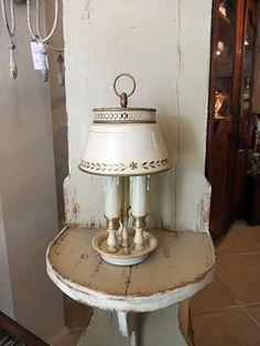 Small 'Tole' Bouillotte Lamp