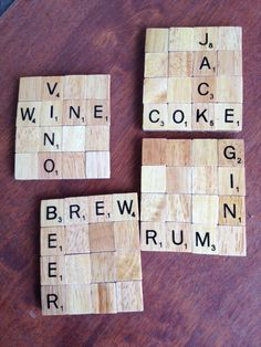 Scrabble Tile Coasters by BrewedCrafts on Etsy