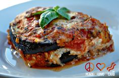 Eggplant Lasagna with Meat Sauce - Low Carb, Gluten Free | Peace Love and Low Carb