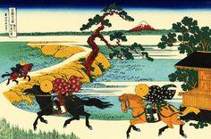 Katsushika Hokusai - The Fields of Sekiya by the Sumida River