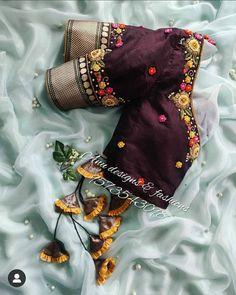 Blouse Designs High Neck, Cutwork Blouse Designs, Pattu Saree Blouse Designs, Hand Work Blouse Design, Embroidery Neck Designs, Stylish Blouse Design, Fancy Blouse Designs, Bridal Blouse Designs, Blouse Designs Catalogue