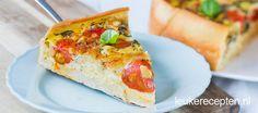 Quiche caprese - Leuke recepten Tarte Tartin, A Food, Food And Drink, Savoury Cake, Baking Recipes, Mozzarella, Foodies, Sandwiches, Lunch