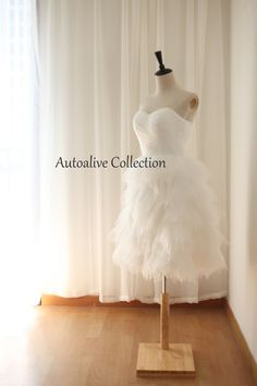 Cute Ruffle Tulle Wedding Dress/Reception Dress/Prom by autoalive, $119.00