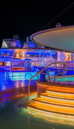 Harmony of the Seas | Come seek the top deck on the world's largest cruise line. Kick back in luxury in one of four pools onboard, or find a thrill sliding down the Ultimate Abyss, the world's tallest slide at sea.