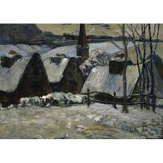 Breton Village in the Snow 1894 Paul Gauguin (1848-1903French) Musee dOrsay Paris Canvas Art - Paul Gauguin (18 x 24)