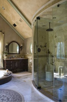luxurious bathroom with incredible shower enclosure.