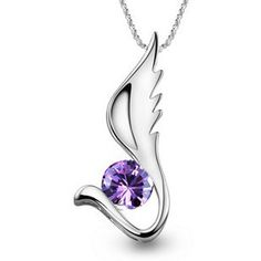 Solid White Brass Plated Platinum Sea Horse Necklace Pendant