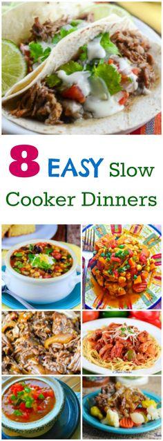 8 Easy Slow Cooker Recipes ~ http://FlavorMosaic.com