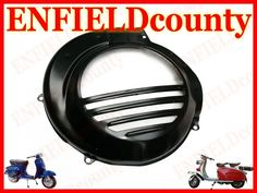 BRAND NEW VESPA ENGINE FLY WHEEL MAGNET BLACK COWLING COVER COWL PX PE LML T5