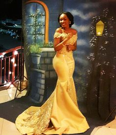 Plus Size Prom Dress, Sexy Gold Mermaid Off Shoulder Satin Beaded Long 2019 African American Prom Dress, Shop plus-sized prom dresses for curvy figures and plus-size party dresses. Ball gowns for prom in plus sizes and short plus-sized prom dresses African Lace Dresses, African Wedding Dress, African Fashion Dresses, Wedding Dresses, Beaded Dresses, Prom Gowns, Dress Fashion, African Formal Dress, Fashion Clothes