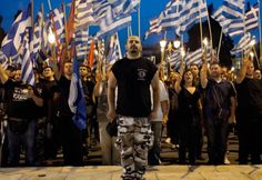 Members and supporters of the ultra-nationalist Golden Dawn party rally in central Athens. Fall Of Constantinople, Greek Flag, Angry Women, Old Folks, Amnesty International, The Turk, The Spectator, Martial Artists, Human Rights