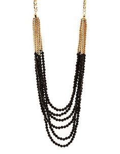 Layered Beaded Necklace: Charlotte Russe