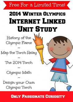 2014 Winter Olympic Internet Linked Unit Study - Free until Teaching Kindergarten, Teaching Ideas, Preschool, Olympic Idea, Learning Time, Home Schooling, School Holidays, Homeschool Curriculum, Winter Olympics